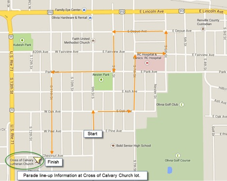 CCD Parade route